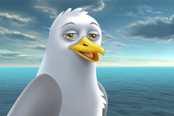 A Fish Tale - 2D animated internal video for NOAA. Seagull